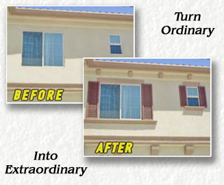 Stucco, Curb Appeal, exterior window trim